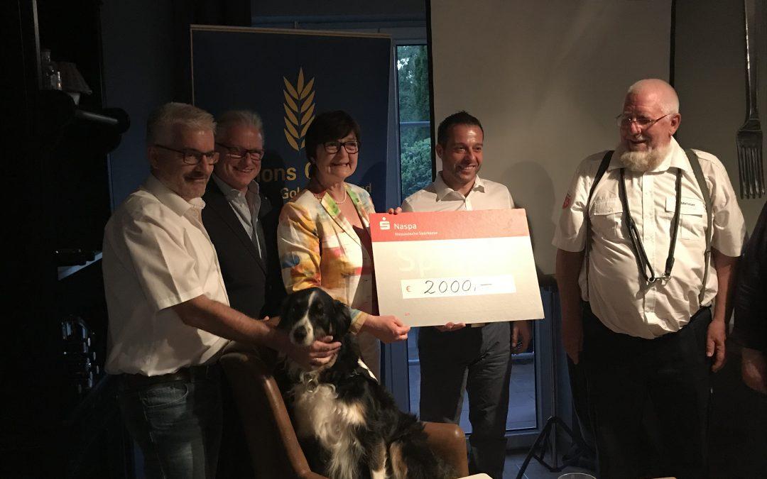 Spendenübergabe an den Malteser Besuchs- und Begleitdienst mit Hunden 7.5.2018