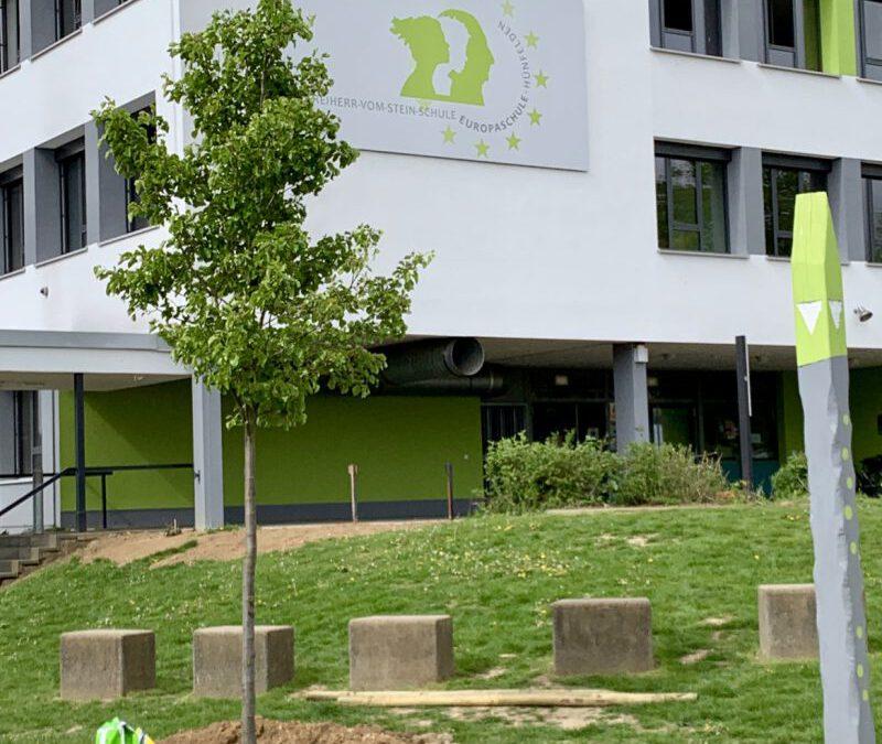 Spendenübergabe für Europaplatz der Freiherr vom Stein-Schule am 3. Mai 2019