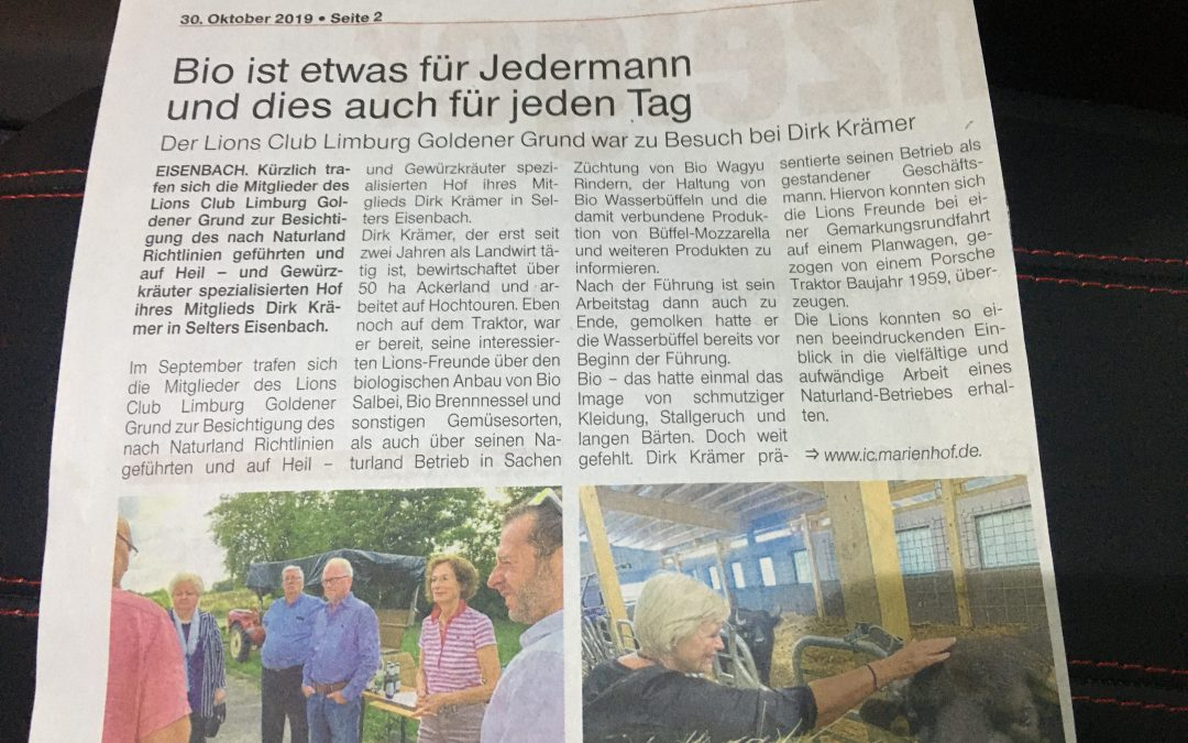 Besuch bei Dirk Krämer